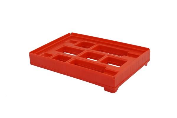 Rahmen für Hygiene-Transportroller von oben rot