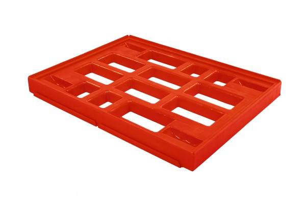 Rahmen für Transportroller A / B und BF 80 x 60 cm 400 kg Traglast –4 Lenkrollen –Verbindungsstück –in der Farbe rot