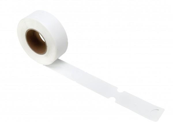 1000 Stück - 10212-Schlaufenetikett Typ A_Weiß_Rolle